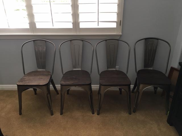 Metal retro dining room table chairs (4) in Santa Clarita ...
