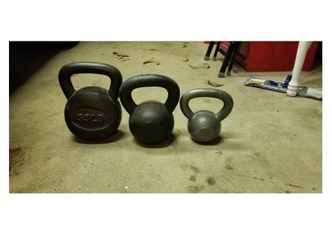 Iron kettlebells