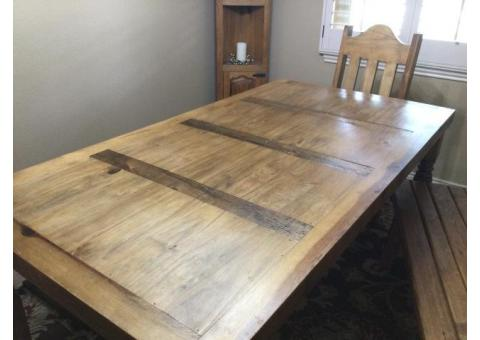 Dining Room Table, Benches and chairs